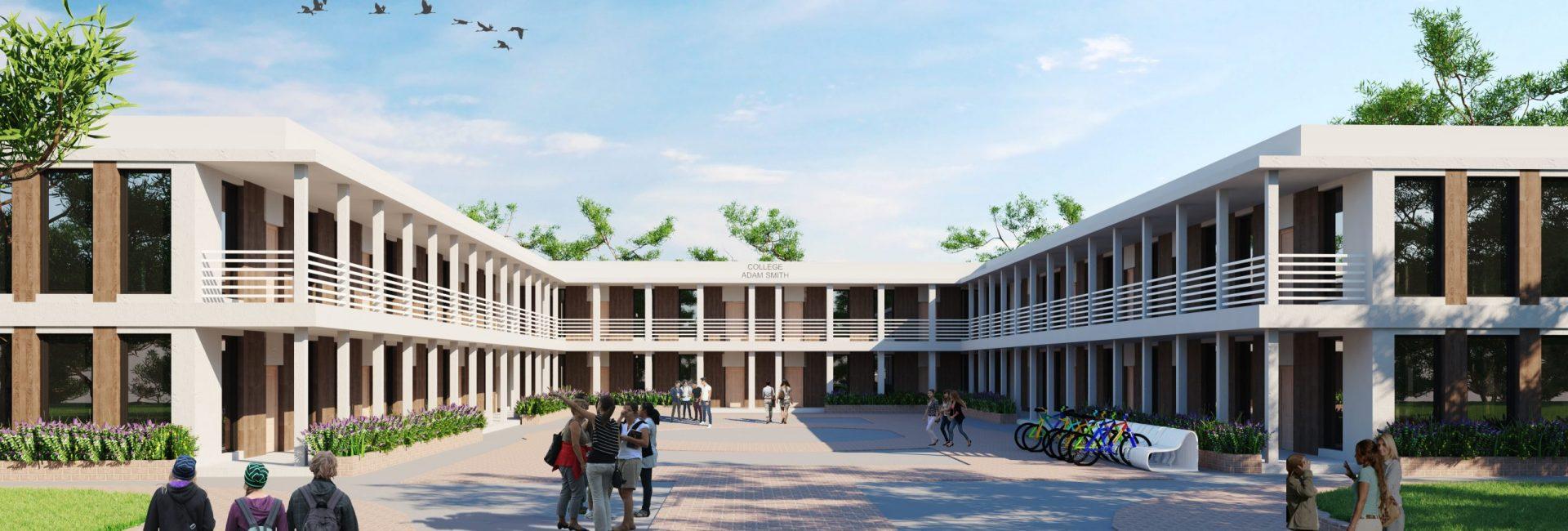 Lycée - Ile-de-France - 4000m2 (High Resolution)